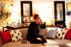 Kate on the couch - Inside the home of ANDY SPADE AND KATE SPADE in NYC.jpg